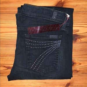 7 For All Mankind Dojo Flare Jeans, 27x34 *NWT*